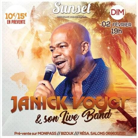 JANICK VOYER en concert au SUNSET