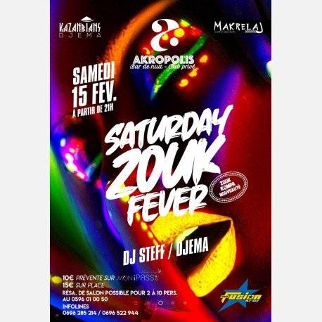 saturday zouk fever AKROPOLIS