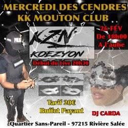 MERCREDI DES CENDRES KOEZYON AU KK MOUTON CLUB