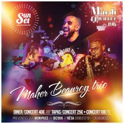MardisSunset Maher BEAUROY trio en DinerConcert