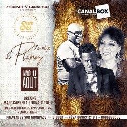 Mardi 11/08 SUNSET 2 PIANOS /1 VOIX